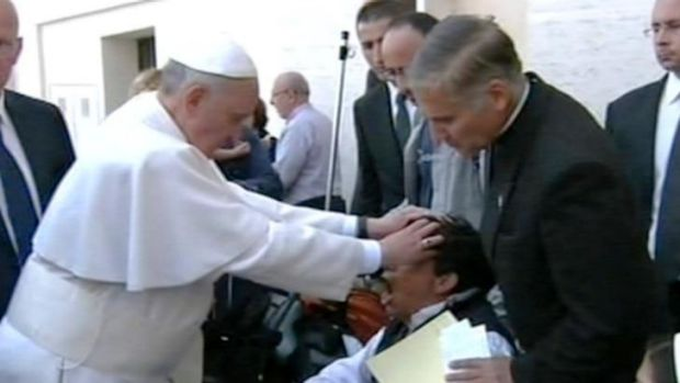 In May last year it was claimed that Pope Francis had performed an exorcism during a Mass in St Peter's Square.