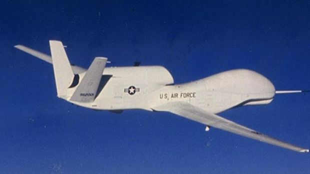 The unmanned Global Hawk drone can stay airborne for 30 hours.