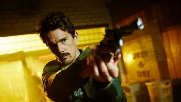 Ethan Hawke in the Spierig brothers' Predestination. Shot in Melbourne in 2013, the film will open the 2014 Melbourne ...