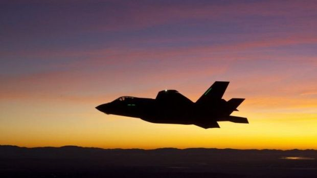 Cuts to the Defence Science and Technology Organisation: An F-35 fighter jet.