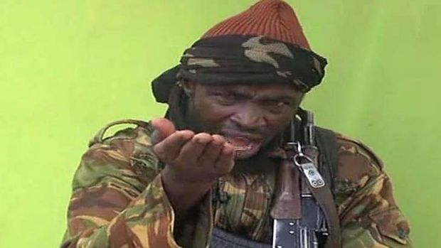 Making his point: Boko Haram leader Abubakar Shekau.