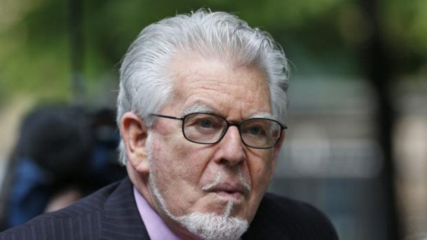 Australian entertainer Rolf Harris, who is accused of indecent assault, arrives at court on Monday.