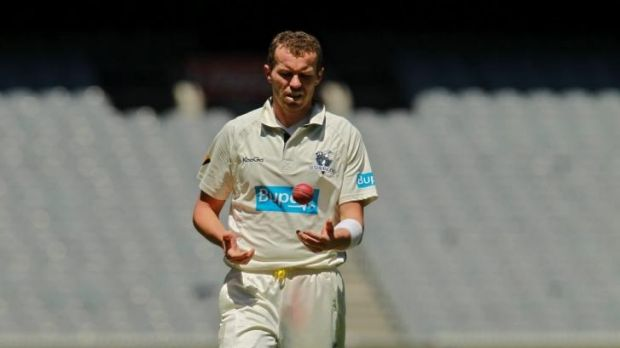 Peter Sizzles: Peter Siddle starred in England