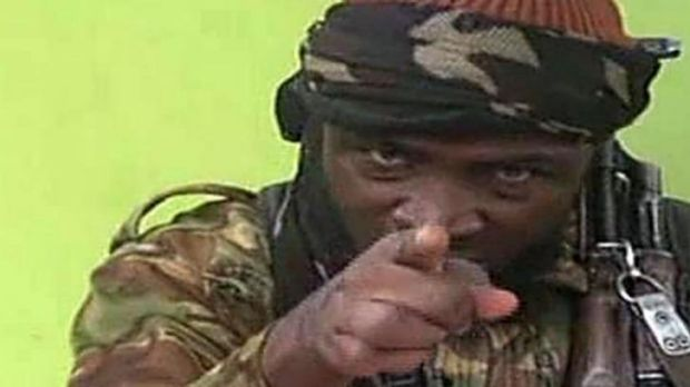 Boko Haram leader Abubakar Shekau in the video.