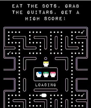 Screen grab from 5 Seconds of Summer's Pac-Man inspired video game #Hungry5SOS which is being used to market the band's ...