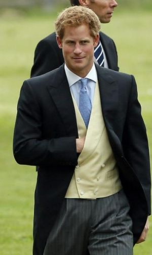 Prince Harry, pictured at a wedding last year.
