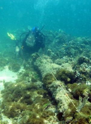 Site explorer Barry Clifford says this could be the wreckage of the Santa Maria, pictured here in 2003.