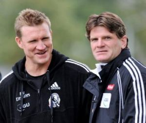 Dynamic duo: Nathan Buckley and Robert Harvey.