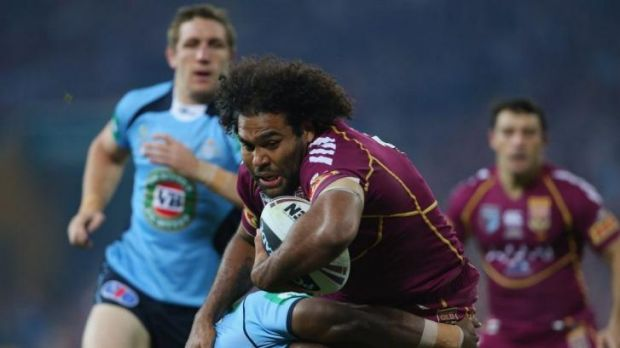Looking for more game time: Brisbane and Maroons forward Sam Thaiday.