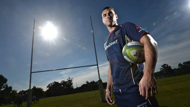 Rebels player Jack Debreczeni who will play his first game on the weekend.