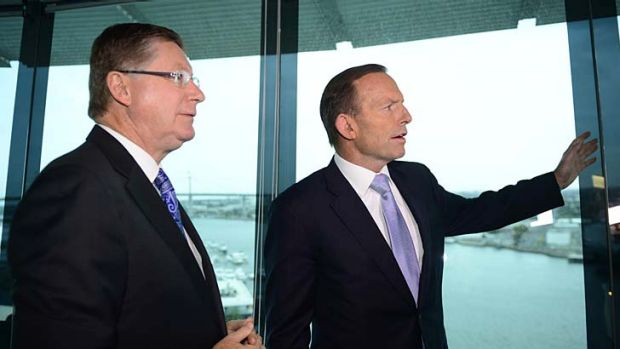 Denis Napthine and Tony Abbott. Their governments will announce the first winners of grants for projects using new ...