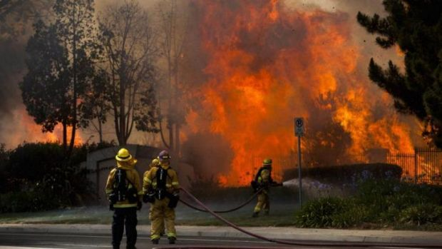 Californian wildfires force evacuations this week.