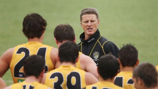 """Tommy's way: Richmond coach Damien Hardwick has urged his troops to play """"relentless"""" and """"ruthless'"""