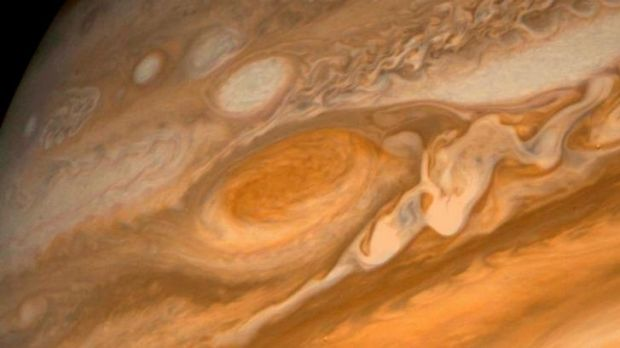 "Jupiter's ""Great Red Spot"" is the biggest storm in the solar system."