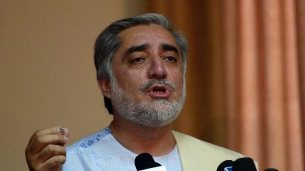 Afghan presidential candidate Abdullah Abdullah received 45 per cent of the vote.