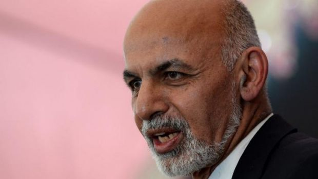 Ashraf Ghani came in second with 31.6 per cent of the vote.