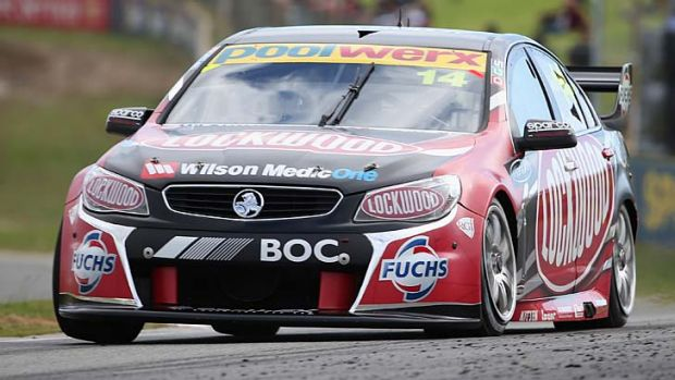 Fabian Coulthard drives the Lockwood Racing Holden during practice at Barbagallo Raceway in Perth on Friday.