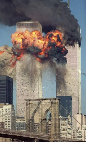 The destruction of the World Trade Centre.
