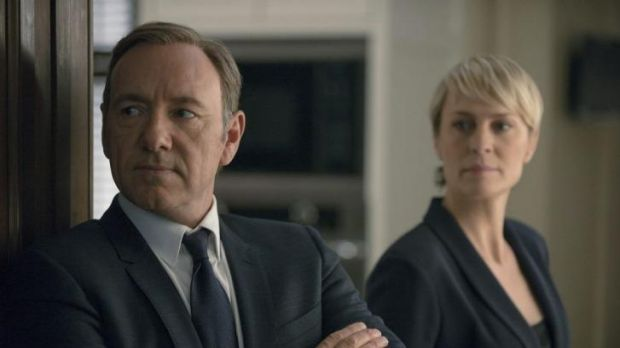 Kevin Spacey in <i>House of Cards</i>.