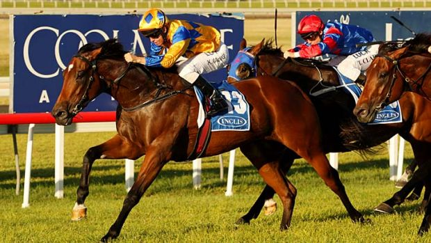 Kerrin McEvoy guides Cosmic Endeavour home.