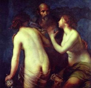 <i>Lot and His Daughters</i>, painted by the priest Francesco Furini in 1634.