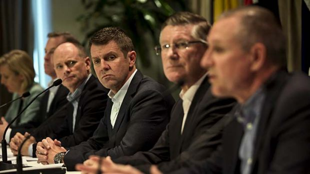 Backlash: (From left to right) Queensland Premier Campbell Newman, NSW Premier Mike Baird and Victoria Premier Denis ...
