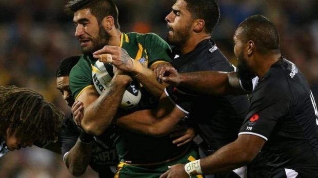Self-imposed alcohol ban: Cowboys prop James Tamou.