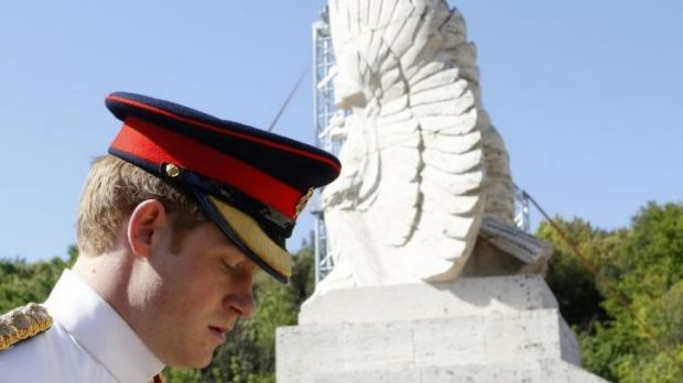Prince Harry attends a commemoration service at Monte Cassino's Polish military cemetery.