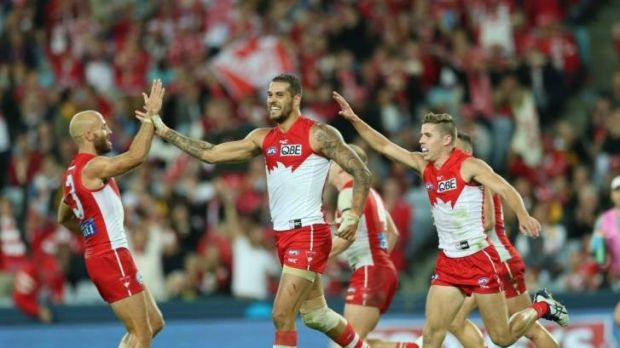 Perhaps the only remaining doubt about the Swans is in the ruck, where the loss of Shane Mumford continues to linger.