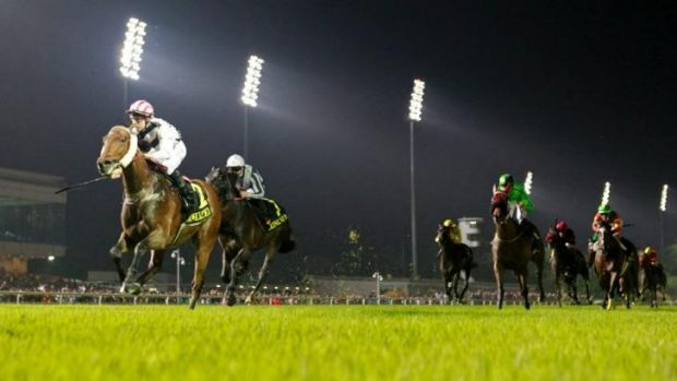 Tommy Berry rides Dan Excel to victory in the  International Cup in Singapore on Sunday.