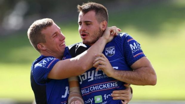 A Canterbury tale: Bulldogs duo Trent Hodkinson and Josh Reynolds are set to be NSW's halves pairing for the whole ...