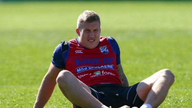 Done it the hard way: Canterbury's Trent Hodkinson.