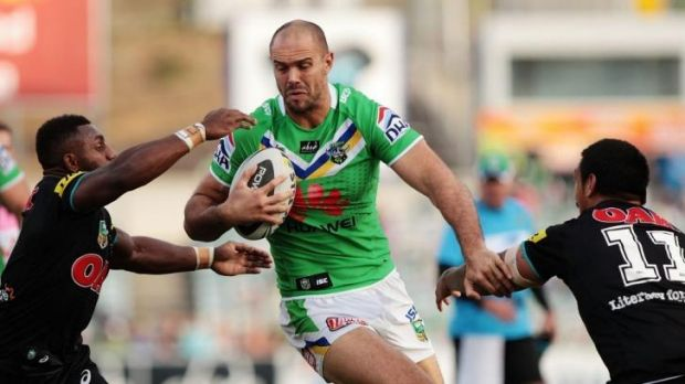 Through the gap: Raiders star Dane Tilse says Canberra won't be taking an Origin-depleted Cowboys side lightly.