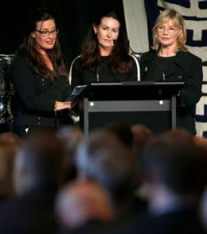 Tom Hafey's daughters Rhonda, Karen and Joanne.