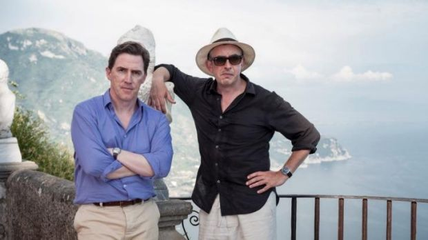 Rob Brydon and Steve Coogan in <i>The Trip to Italy</i>.