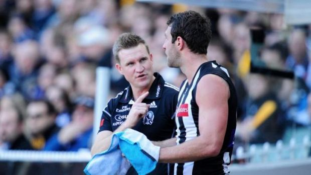 Soon mate: Nathan Buckley believes Travis Cloke is due for a form reversal.