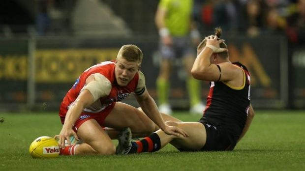 Hannebery and Hurley immediately after the incident in question