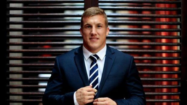 Dressed for success: Blues halfback Trent Hodkinson.
