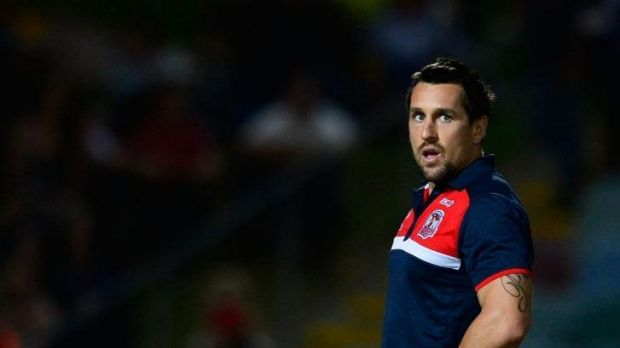 Plenty to prove: Blues discard Mitchell Pearce in Townsville last weekend.