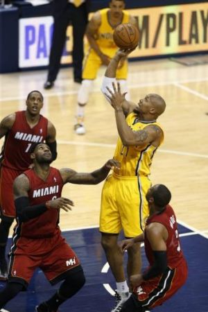 David West of the Indiana Pacers.