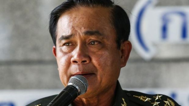 Thai Army chief General Prayuth Chan-ocha speaks during a news conference at The Army Club after the army declared ...