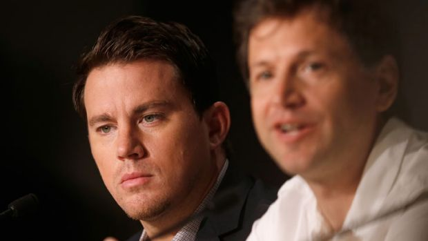 Actor Channing Tatum and director Bennett Miller speak at the 'Foxcatcher' press conference during the Cannes Film ...