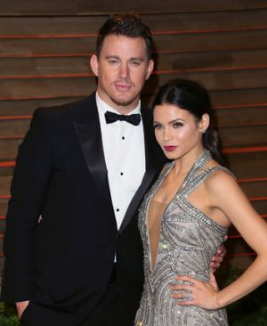 Channing Tatum with wife Jenna Dewan-Tatum at the 2014 Vanity Fair Oscars Party.