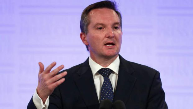 Shadow treasurer Chris Bowen at the National Press Club.
