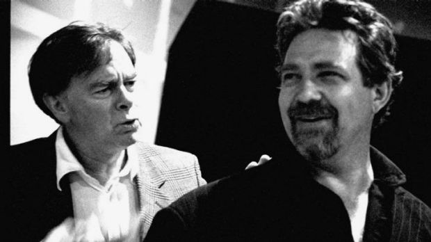 Peter Curtin (left) with Philip Quast rehearsing for the Melbourne Theatre Company production of <i>The Goat</i> in 2003.