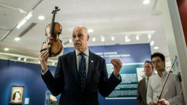 'Exceptional' instrument ... A Stradivarius violin once owned by French violinist Rodolphe Kreutzer, who lived from 1766 ...