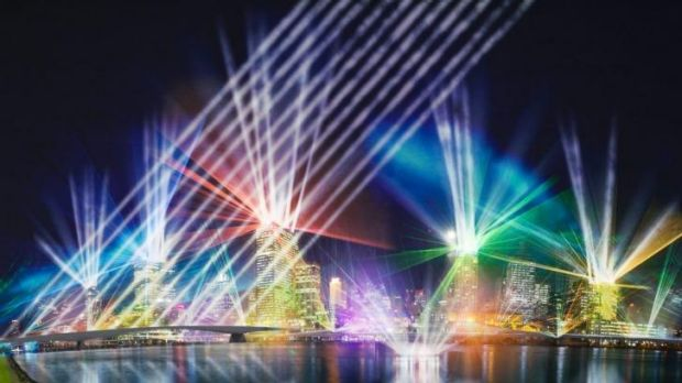 A scene from last year's City of Lights display during the Brisbane Festival.