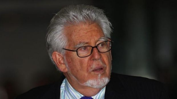 Rolf Harris leaves court on May 19.