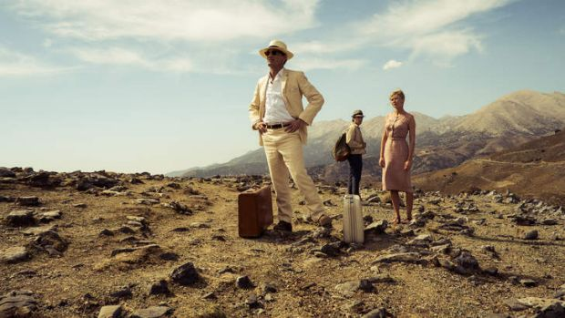 Viggo Mortensen, Oscar Isaac and Kirsten Dunst in <i>The Two Faces of January</i>, adapted from the novel by Patricia ...