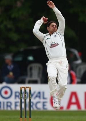 Saeed Ajmal in action for Worcestershire this week.